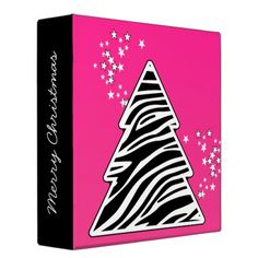 Zebra Christmas Tree Binder