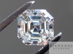A stunning asscher cut diamond.