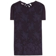 mytheresa.com - Lace-trimmed cotton T-shirt - blouses - tops - clothing - Luxury Fashion for Women / Designer clothing, shoes, bags