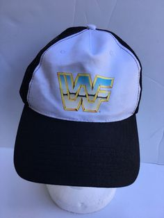 d67949162f4 WWF World Wrestling Federation Trucker Hat Cap Snapback Mesh  fashion   clothing  shoes
