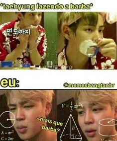 Cd a barba Taehyung? Bts Memes, K Meme, Bts Derp Faces, Meme Faces, Funny Faces, Bts Bangtan Boy, Bts Boys, Jimin, K Pop