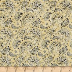 Designed by Jennifer Pugh for Wilmington Prints, this cotton print fabric is perfect for quilting, apparel and home decor accents. Colors include tan and blue.