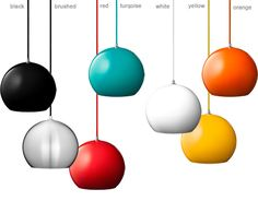 topan vp6 pendant lamp  Design Verner Panton, 1960  Aluminum, fabric cord  Made in Denmark