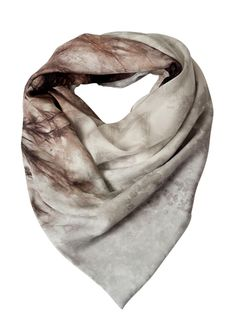 Magnetic Print Scarf | Grey