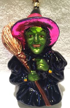 Christopher Radko- I Mean Green - Wicked Witch Oz Ornament