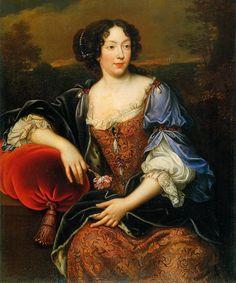 ab. 1675 Henri Gascar after Pierre Mignard - Portrait of Élisabeth Marguerite d'Orléans (Isabelle d'Orléans)