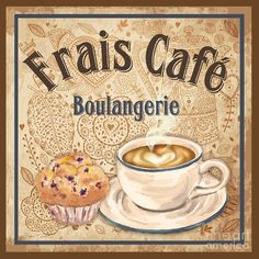 French Coffee-jp3113 Painting by Jean Plout