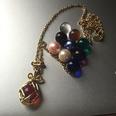 Absolutely Gorgeous Marble Drop Necklace This is a truly unique piece! Change the marble inside to match your outfit! Marble colors: emerald, ruby, purple, clear, black, pearl, pink pearl, Amber, sapphire, Sky blue. Jewelry Necklaces