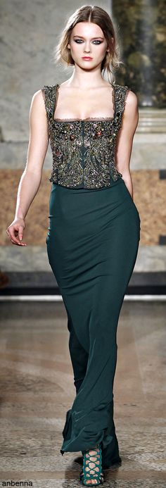 what A dress <3 ... Emilio Pucci 2011 - green gown