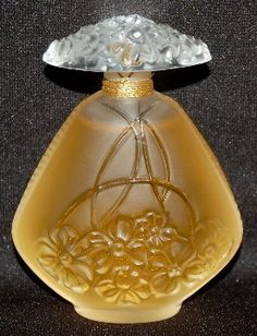"Lalique Art Glass ""Jasmine"" Perfume Bottle"