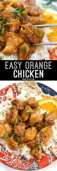 This Easy Orange Chicken cooks quickly in a skillet (no deep frying!) and uses only real, fresh ingredients. It's the perfect take-out fake-out.