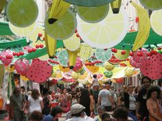 Festa Major de Gracia Barcelona, Thanks, Chinese, Backpack, Street