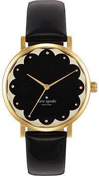 KATE SPADE Metro gold-plated metal and leather watch- I want I want I want!