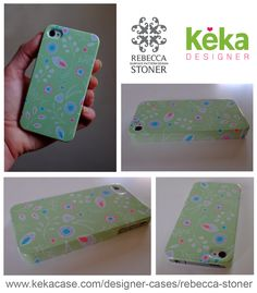 """""""Lacey Flowers"""" iPhone cover for Keka Case by Rebecca Stoner"""