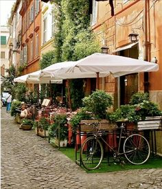 living the dream. Jesus loves us♡ Rome Italy - Italian Photography - Trastevere Rome - Italian Decor - Italy Restaurant - Cafe Art - Orange Green - Laundry Bicycle via Etsy Trastevere Rome, Oh The Places You'll Go, Places To Travel, Rome Photography, Travel Photography, Italy Restaurant, Restaurant History, Voyage Rome, Belle Villa