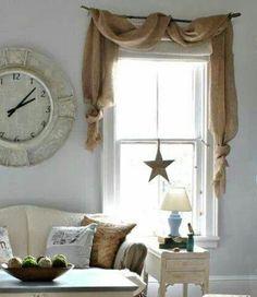 ländlich Fenstergestaltung leicht gardinen rollos uhr