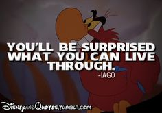 Disney sayings | ... jafar iago aladdin disney disney movie disney quotes posted on wed mar
