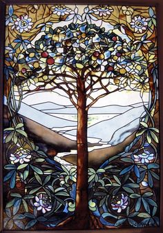 Tiffany Tree of Life Stained Glass by Glassmasters
