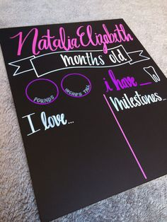Watch Me Grow Monthly Baby Chalkboard by CHALKdesignsBYme on Etsy