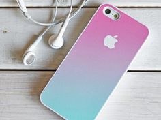 iPhone 5 4 Ombre Case - Gradient Fade - Samsung Galaxy ipod touch - Pink Mint Green Pastel - via Etsy. Cool Iphone 5 Cases, Ipod 5 Cases, Cute Phone Cases, Iphone Case Covers, Marble Iphone Case, White Iphone, Living At Home, Coque Iphone, Iphone Phone