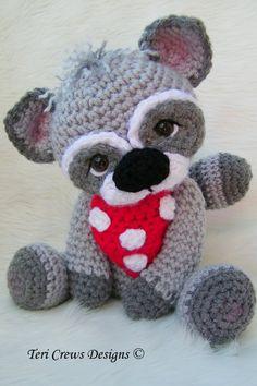Raccoon Crochet Amigurumi Pattern - Etsy