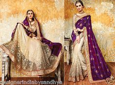 sari indian south silk designer ethnic traditional wedding wear saree blouse new