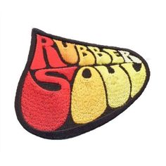 THE BEATLES - RUBBER SOUL LOGO ( BRAND NEW 9cm x 8cm IRON-ON PATCH )