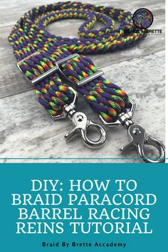 How To Braid Paracord, Paracord Braids, Paracord Knots, Bronc Halter, Horse Information, Diy Braids, Horse Crafts, Paracord Projects, Equestrian Style