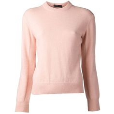 Cédric Charlier knit sweater (40.650 RUB) ❤ liked on Polyvore featuring tops, sweaters, long sleeve sweaters, pink top, pink sweater, pink knit sweater and long sleeve knit tops