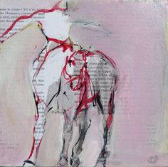 "Horse Painting - Saatchi Art Artist Laurence Poitrin; Collage, ""Dance"" #art horse painting peinture cheval Horse Art"