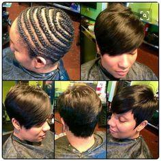 American and African Hair Braiding : pixels - Beauty Haircut Cut My Hair, Love Hair, Gorgeous Hair, Short Weave Hairstyles, Girl Hairstyles, Black Hairstyles, Short Hair Cuts, Short Hair Styles, Pixie Styles