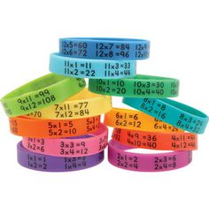 Multiplication Facts Bracelets