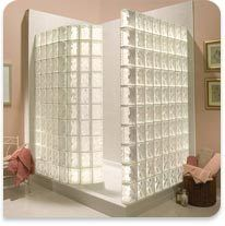 1000 images about bathrooms with glass block on pinterest for Glass block alternatives