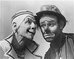 Charlie Bell and Emmett Kelly on the Ringling Bros. and Barnum & Bailey Circus in the early 1940s.