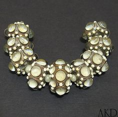 Handmade Lampwork Bead Set SRA OOAK Ivory Dot Glass by AKDlampwork, $124.00