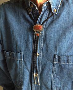 Jasper bolo tie with jasper dangle in sterling silver by TiarasNJewels on Etsy