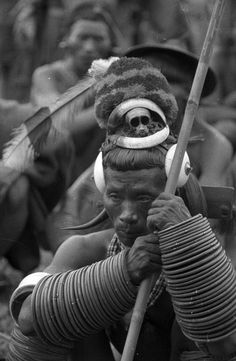 India | To-Ang, the famous Ang of Sheangha. Wakching, Sheangha, Nagaland, Mon District. 1936. | ©SOAS, Nicholas Haimendorf