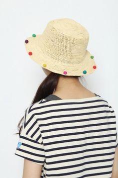 Pompom sun hat! Every girl needs one.