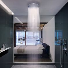 Edmonds + Lee Architects have designed the gorgeous oriental warehouse loft conversion. The project is located in San Francisco's South Beach neighborhoo Contemporary Shower, Modern Shower, Contemporary Bathrooms, Modern Contemporary, Dream Bathrooms, Beautiful Bathrooms, Luxury Bathrooms, Chic Bathrooms, Douche Design