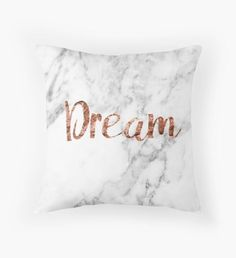Rose gold marble dream Rectangular Pillow by peggieprints Rose Gold Marble Dream Pillow Cushion! Rose Gold Room Decor, Rose Gold Rooms, Gold Bedroom Decor, Bedroom Ideas, White Bedroom, Bedroom Inspo, Décoration Rose Gold, Rose Gold Marble, Gold Gold