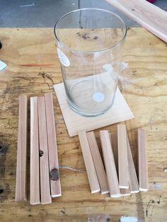 Make your own rustic wood lanterns! Make your own rustic wood lanterns! Small Wood Projects, Diy Projects, Welding Projects, Diy Lampe, Lantern Centerpieces, Lantern Diy, Dollar Tree Centerpieces, Wooden Lanterns, Dyi Lanterns