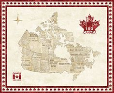 O Canada Canadian Sesquicentennial Map Panel Northcott Quilts Canada, Fabric Canada, Canadian Quilts, Map Quilt, Canada 150, Canada Images, Quilt Patterns, Quilting Ideas, Wood Print