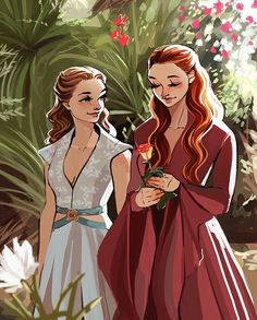 Margaery Tyrell and Sansa Stark