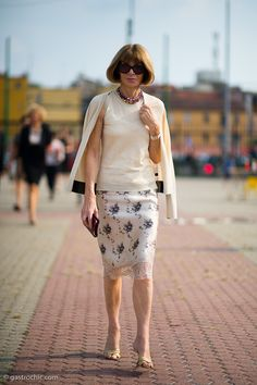 Anna Wintour Hot | Anna Wintour was perfectly turned out on a hot fall afternoon at the ...