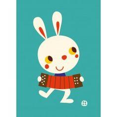 Bora ansichtkaart Rabbit