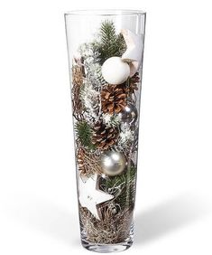 Kugelvase Anticipation – order now from Valentins - Weihnachten Christmas Vases, Silver Christmas Decorations, Christmas Centerpieces, Winter Christmas, Christmas Home, Valentine Decorations, Deco Table Noel, Christmas Inspiration, Holiday Crafts