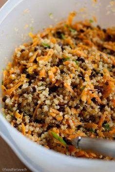 Galettes de Quinoa, Lentilles et Carotte aux Amandes et au Curry - Food for Love