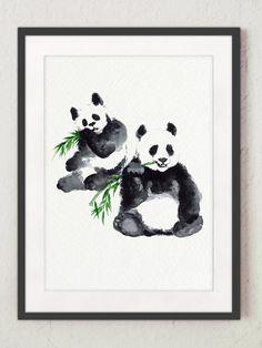He encontrado este interesante anuncio de Etsy en https://www.etsy.com/es/listing/231417883/two-panda-drawing-watercolor-bear-black