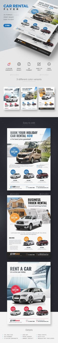 Car Rental Flyer Template PSD. Download here: http://graphicriver.net/item/car-rental-flyer/15094990?ref=ksioks