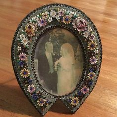 Antique micro mosaic photo/ picture frame , collectable ,rare !